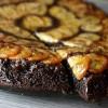 Chocolate Caramel Banana Upside down Skillet Cake