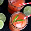 Guava Lime Rum Cocktail