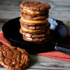 Dulce de Leche Filled Brownie Sandwich Cookies
