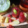 Raspberry Ginger Lime Bourbon Cocktail