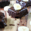 Fudgie Cakey Banana Brownies