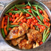 One-Skillet Honey Balsamic Chicken & Veggies