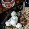 Nutella Stuffed Skillet Cookie