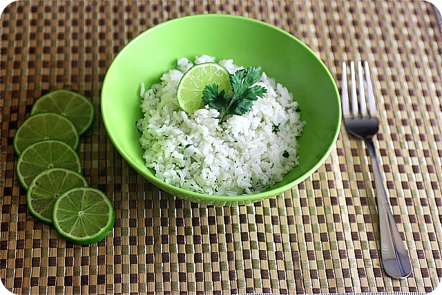 Cilantro Lime Rice {mind-over-batter.com}