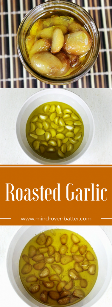 Aromatic garlic is roasted in copious amounts of olive oil. Make, eat, breathe on someone. Just share! www.mind-over-batter.com www.mind-over-batter.com