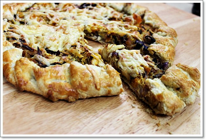Roasted Butternut Squash and Cabbage Galette