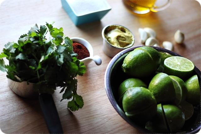 Cilantro Lime Chickpea Salad {mind-over-batter.com}