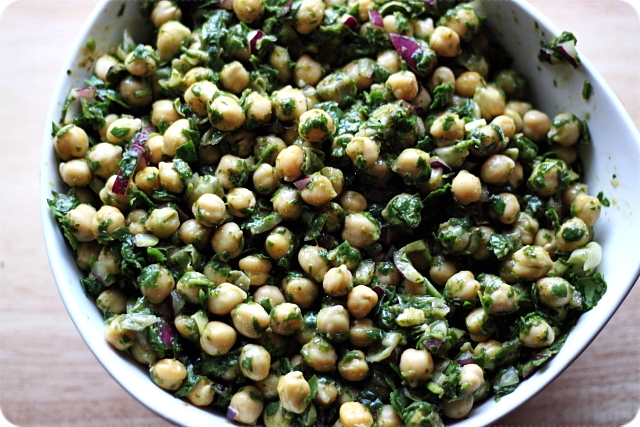 Cilantro Lime Chickpea Salad {mind-over-batter.com}