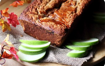 Apple Butter Swirl Spice Cake {mind-over-batter.com}