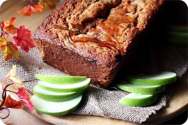 Apple Butter Swirl Spice Cake