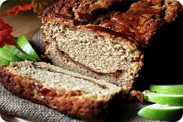Apple Butter Swirl Spice Cake {mind-over-batter.com}