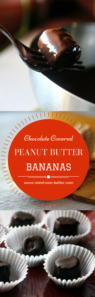 Get healthy! Well... Kind of with these snack-a-licious Chocolate Covered Peanut Butter Banana Slices! www.mind-over-batter.com
