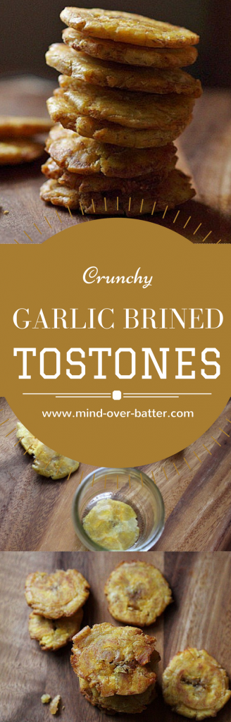 Crunchy Garlic Brine Tostones  -- www.mind-over-batter.com