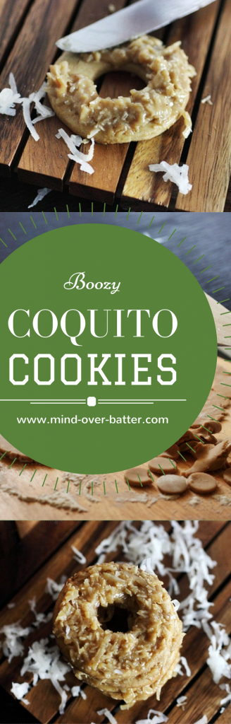 Coquito Cookies!!! Soft-baked cream cheese cut out cookies topped with a coconut filling that tastes just like our beloved Latino eggnog - Coquito! www.mind-over-batter.com