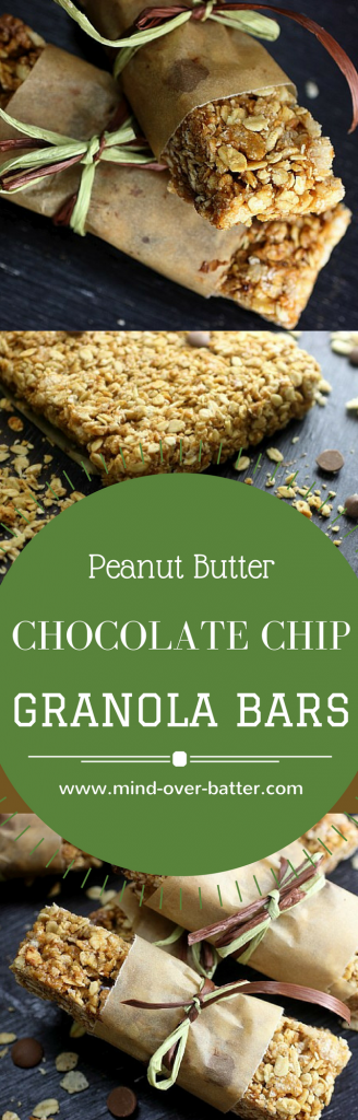 Super simple no bake Peanut Butter Chocolate Chip Granola Bars! Get your health-ish on! www.mind-over-batter.com