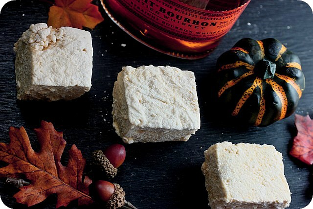 Pumpkin Bourbon Marshmallows {mind-over-batter.com}