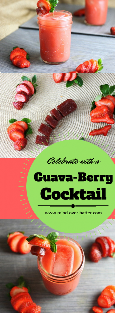 Bold guava, tart strawberries, and loads of rum are the building blocks to this luscious Guava-Berry Cocktail! www.mind-over-batter.com