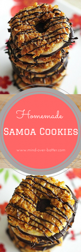 Homemade Samoa Cookies. For when you're jonesing for a Girl Scout Cookie and there is no girl scout to be found!