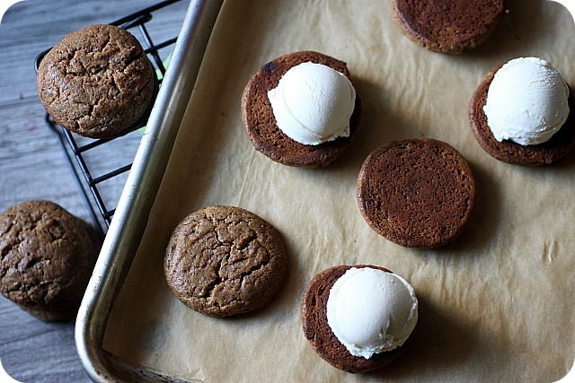 Caramel Cappuccino Ice Cream Sandwiches {Mind Over Batter}