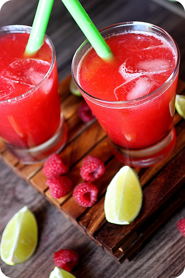 Raspberry Limeade {Mind Over Batter}