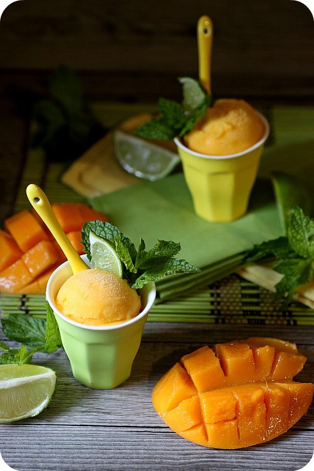 Mango Mojito Sherbet {www.mind-over-batter.com}