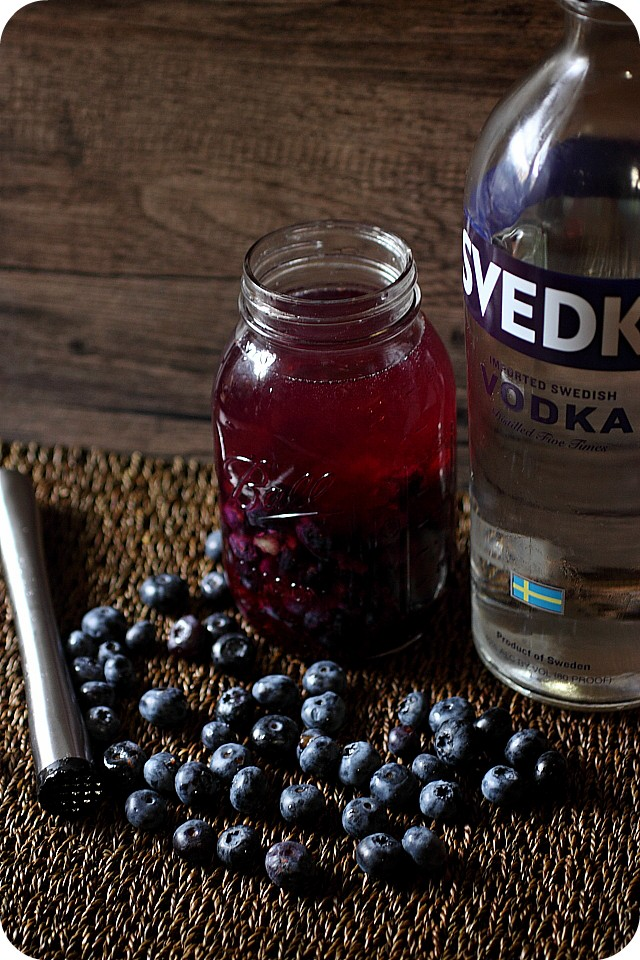 Blueberry Infused Vodka {mind-over-batter.com}