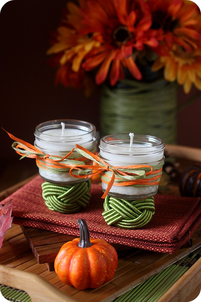 DIY Fall Scented Soy Candles {mind-over-batter.com}