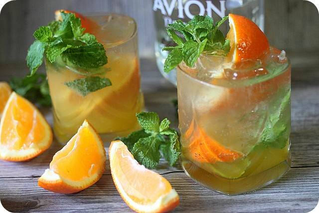 Orange Mint Tequila Cocktail {Mind Over Batter}