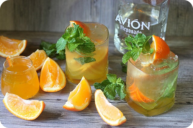 Orange Mint Tequila Cocktail