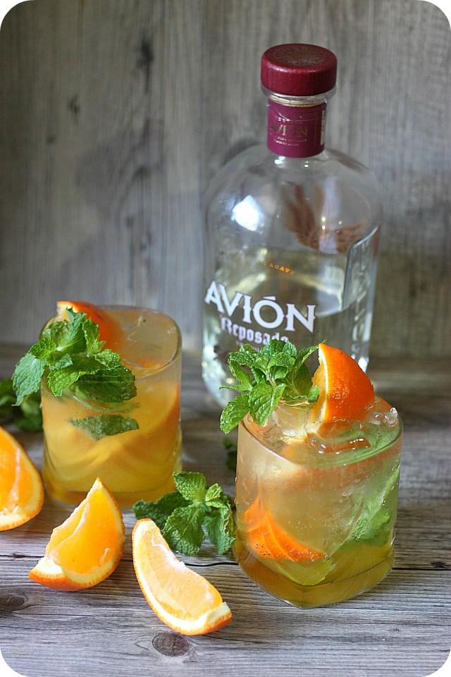 Orange Mint Tequila Cocktail {Mind Over Batter}
