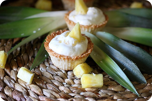 Half Baked Piña Colada Cheesecake Minis {mind-over-batter.com}