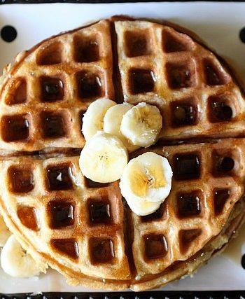 Spiced Banana Waffles {mind-over-batter.com}