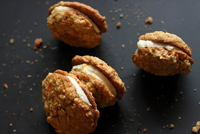 Citrusy Carrot Cake Sandwich Cookies