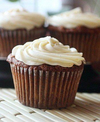Carrot Orange Cupcakes {mind-over-batter.com}