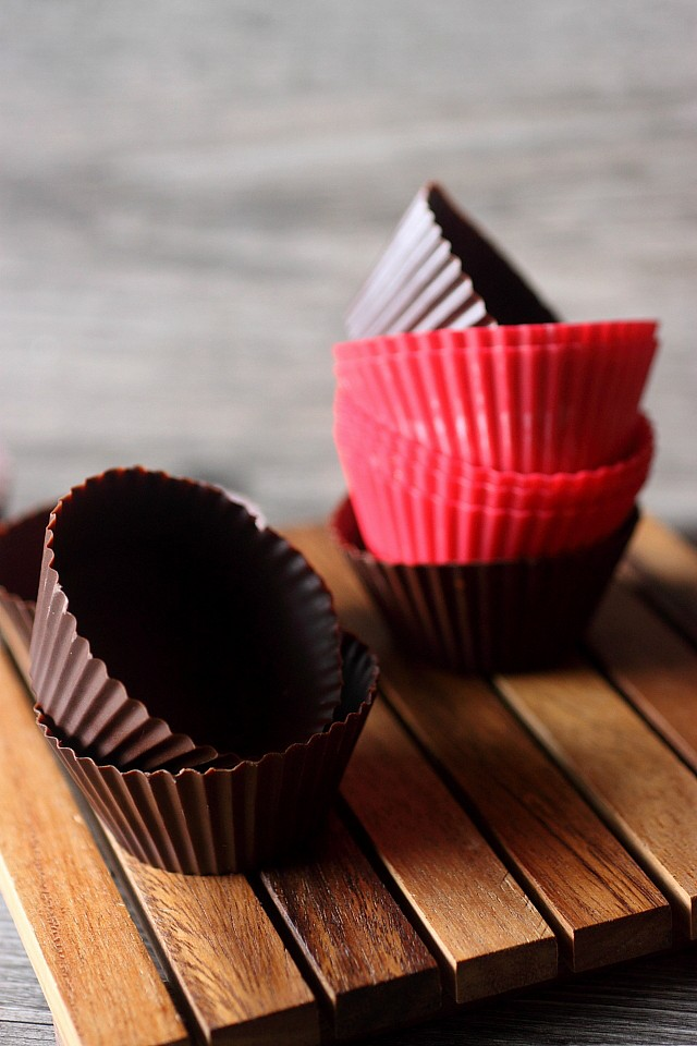 Double Chocolate Mousse Cups {mind-over-batter.com}