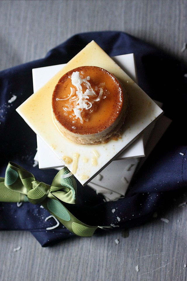 Coquito Cheesecake Flan {mind-over-batter.com}