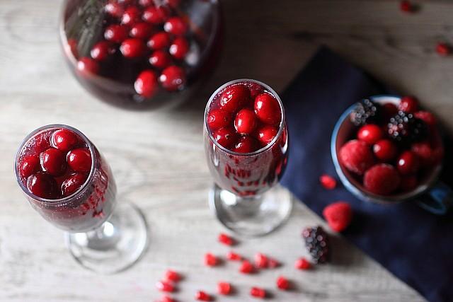 Cranberry Berry Pomegranate Sangria {mind-over-batter.com}