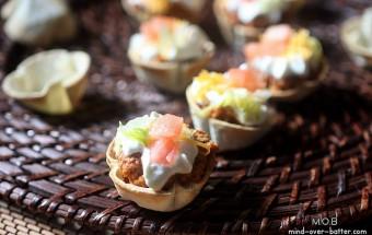 Mini Taco Bites {mind-over-batter.com}