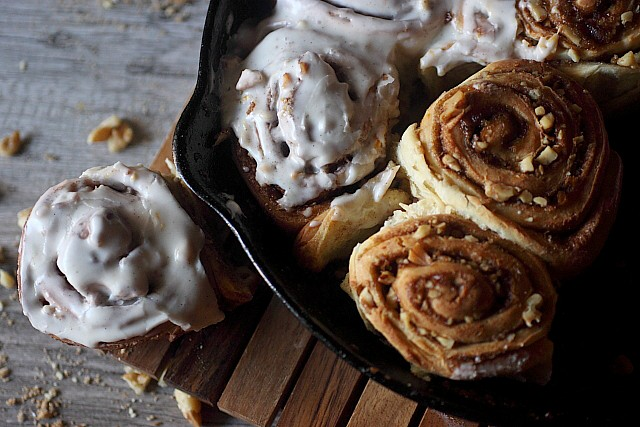 Walnut Cinnamon Sticky Buns {mind-over-batter.com}