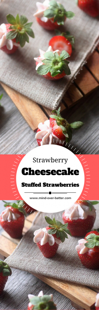 Strawberry Cheesecake Stuffed Strawberries -- www.mind-over-batter.com
