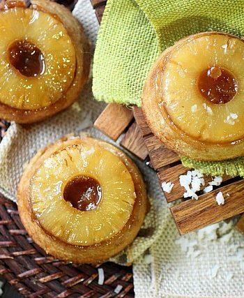 Pineapple Coconut Upside Down Cake {mind-over-batter.com}