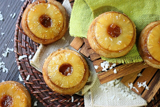 Pineapple Coconut Upside Down Cake {mind-over-batter.com}