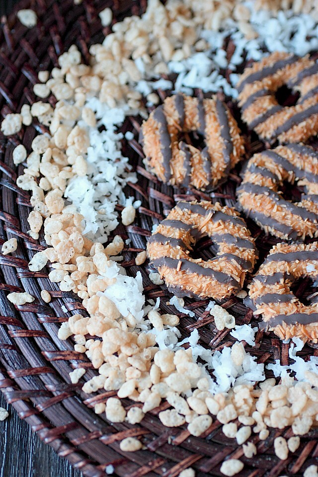 Samoa Rice Krispie Treats {mind-over-batter.com}