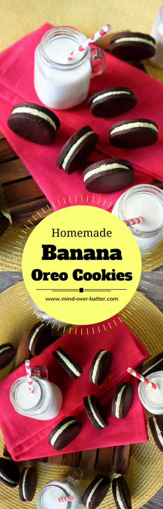 Homemade Banana Oreo Cookies