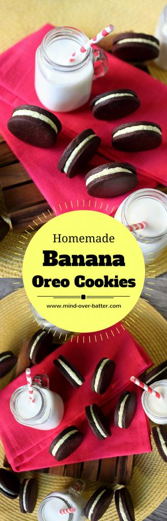 Homemade Banana Oreo Cookies