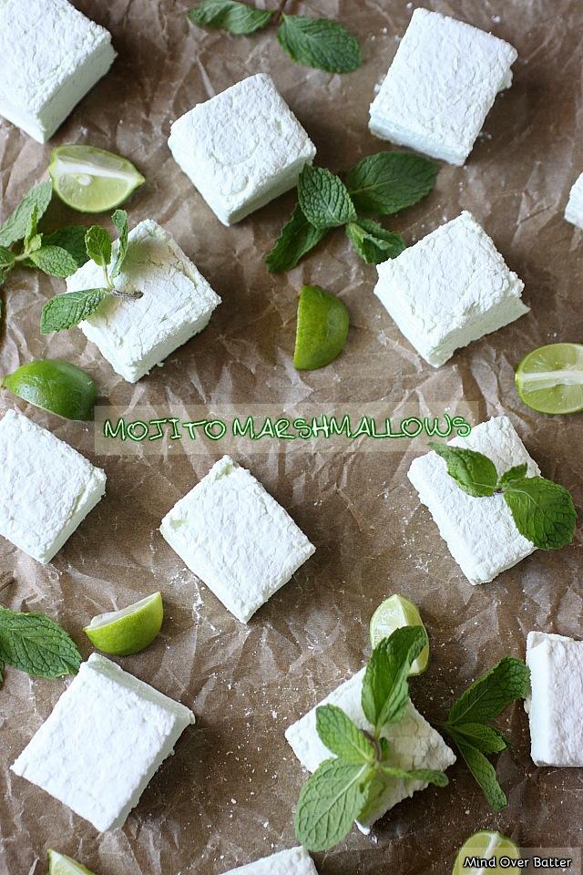 Mojito Marshmallows {mind-over-batter.com}