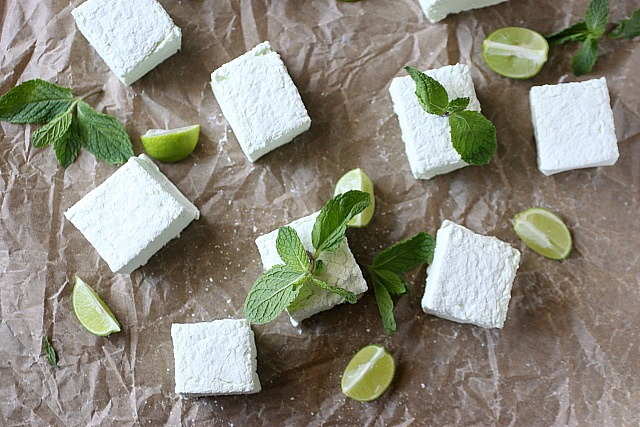 Mojito Marshmallows {mind-over-batter.com}