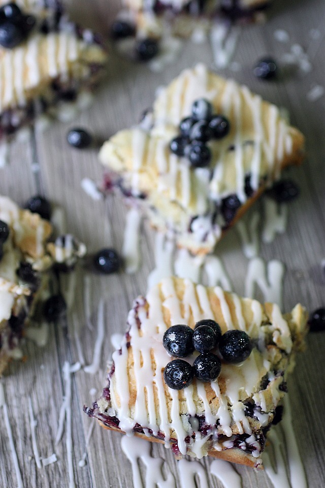 Blueberry Coconut Bars {mind-over-batter.com}