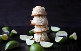 Coconut Lime Macaroons {mind-over-batter.com}