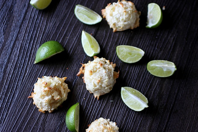 Coconut Lime Macaroons {mind-over-batter.com}